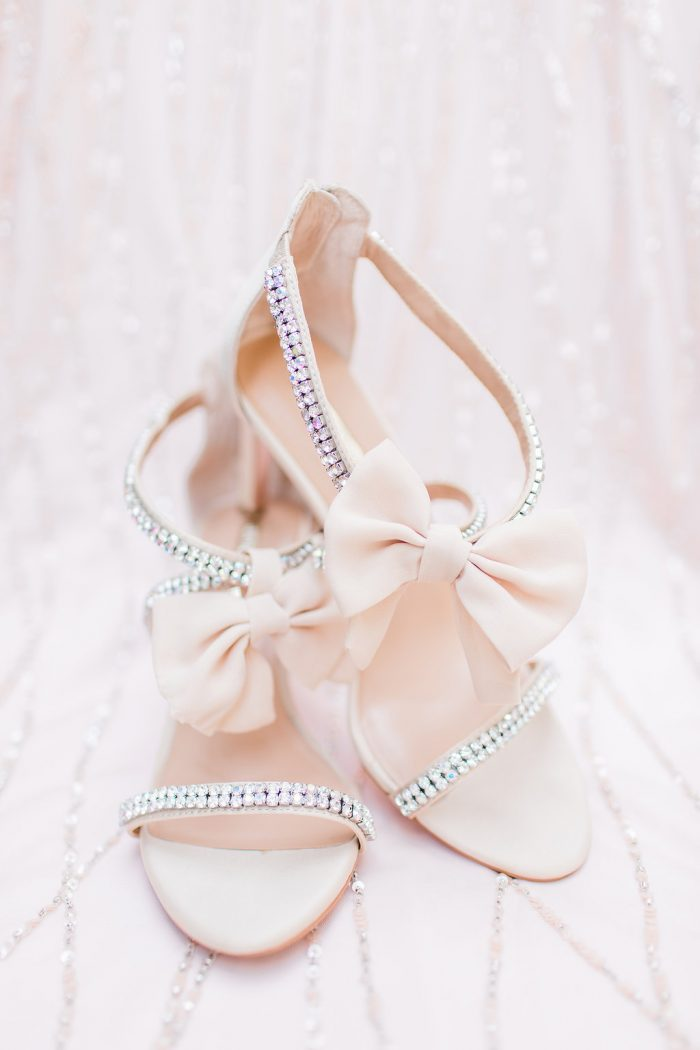 Cute Pink Strappy Heels with Bows