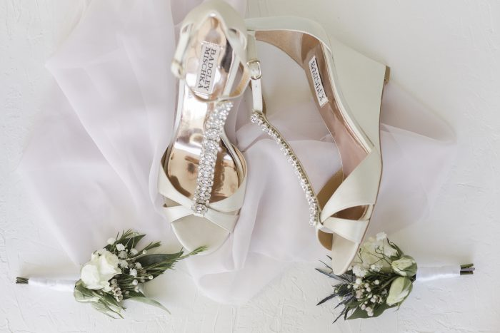 White Open Toed Wedges for Weddings