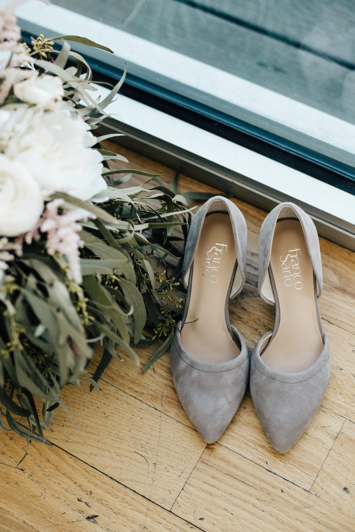 Grey Closed Toe Wedding Shoes for Wedding