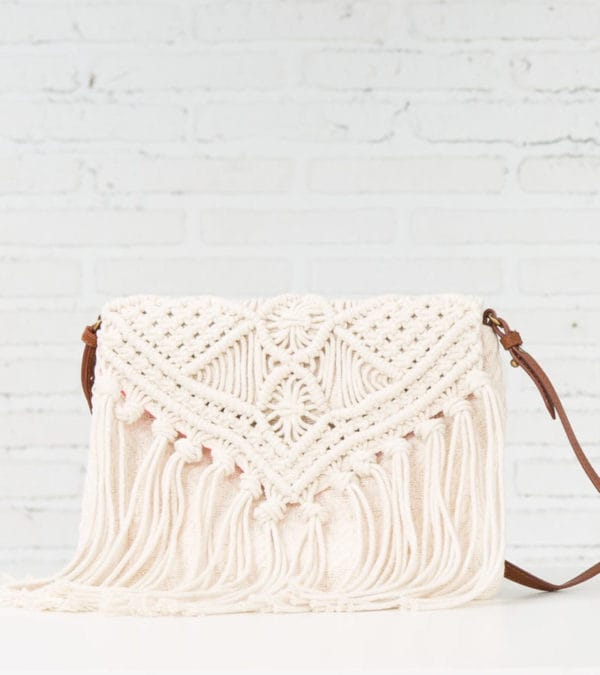 Best Accessories for Your Boho Wedding Dress - Macrame fringe clutch from My Springfield for the boho bride