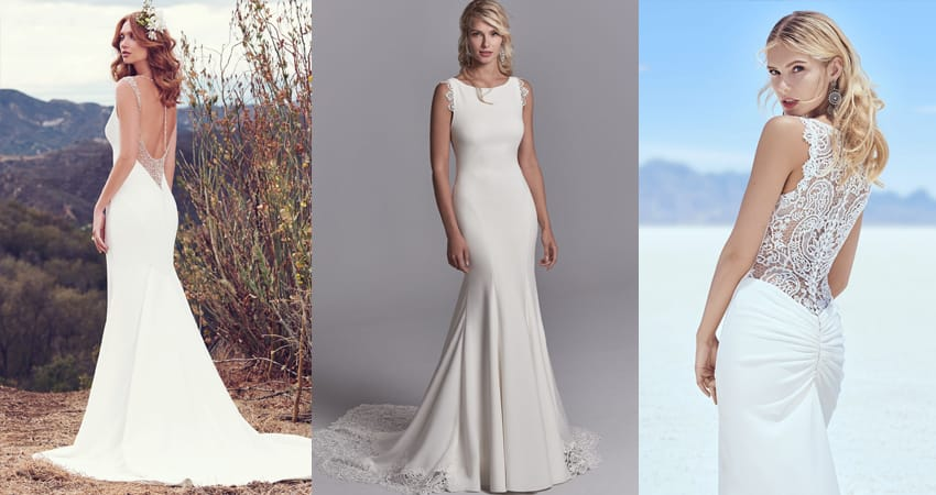 78c35bb8b3a4c The Best Slip Style Wedding Dresses For Chic and Relaxed Brides ...