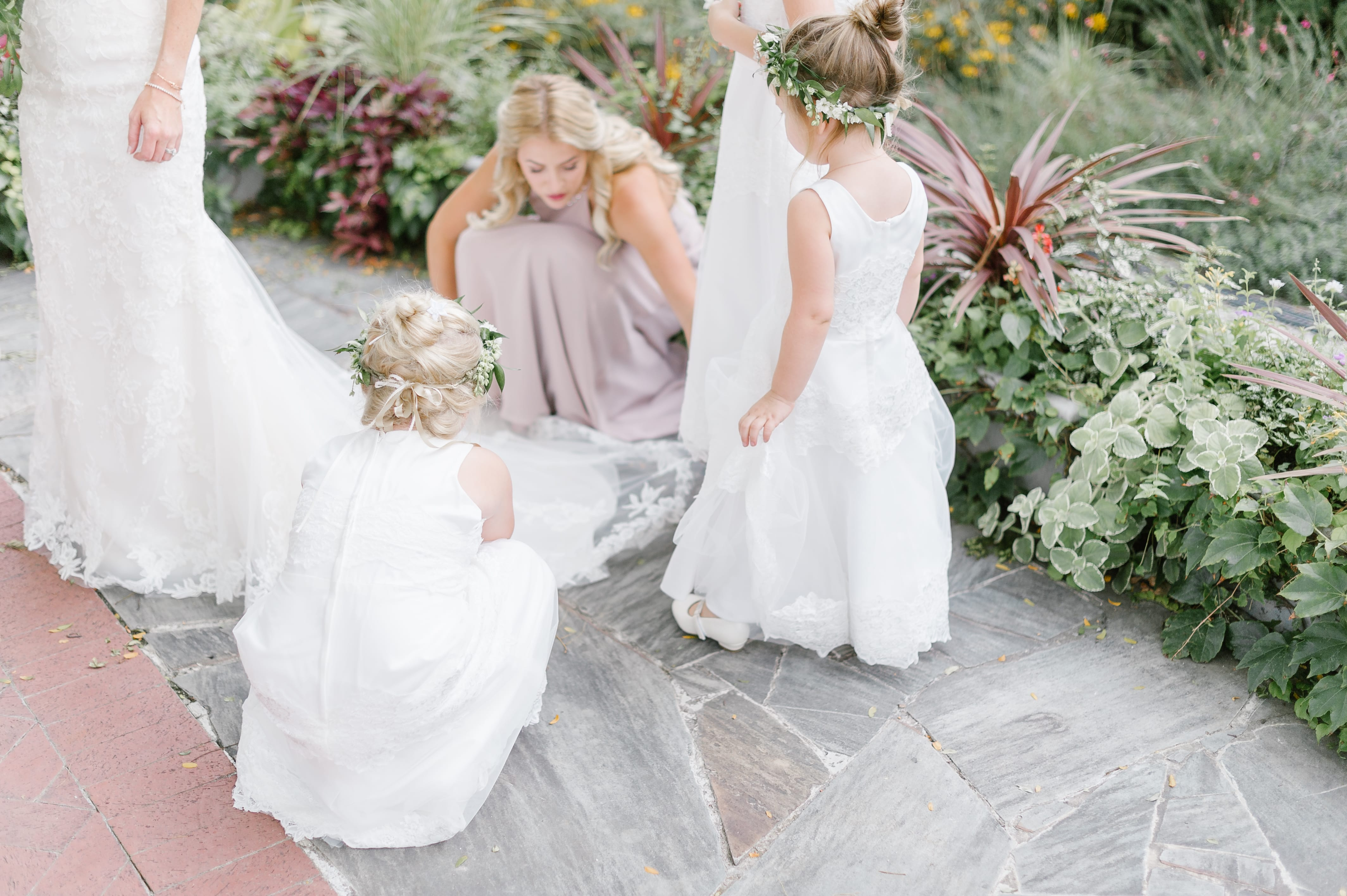 Classic and Romantic Wedding with Green and White Palette at Indianapolis Zoo | Maggie Bride Sarah is wearing Sandra by Rebecca Ingram.