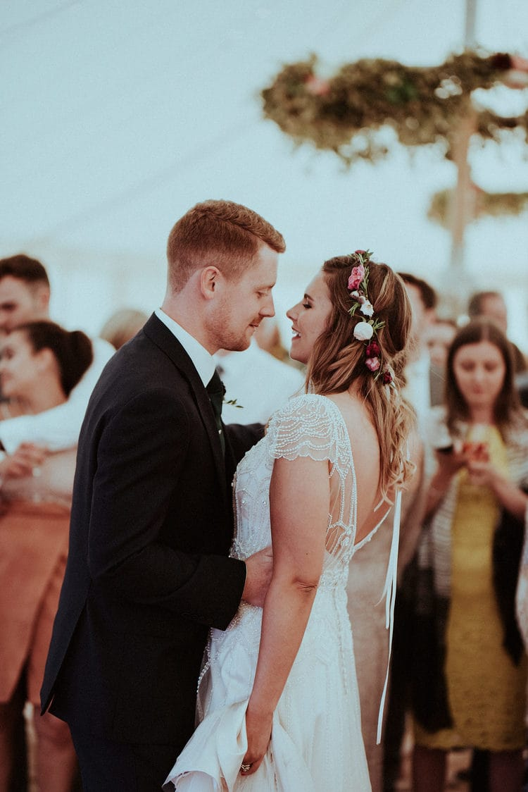 Our Favorite Boho Brides and Boho Wedding Dresses! - Maggie Bride wearing Lisette by Maggie Sottero