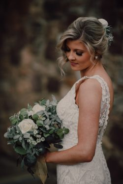 Real Bride Wearing Vintage Wedding Gown Called Winifred by Sottero and Midgley