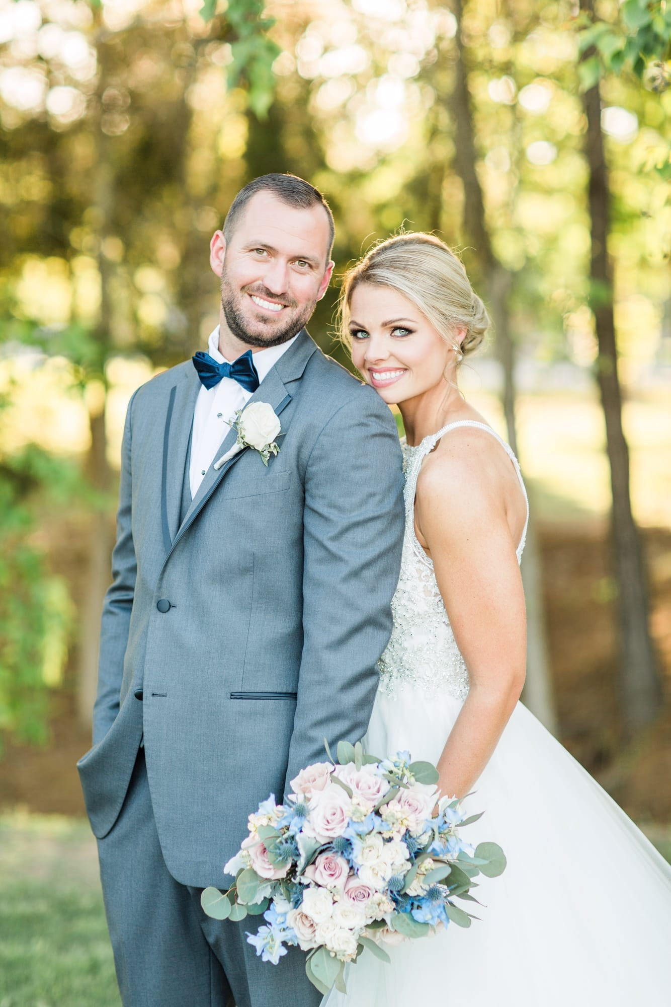 Pretty Summer Wedding And A Princess Ballgown - Maggie Bride wearing Lisette by Maggie Sottero