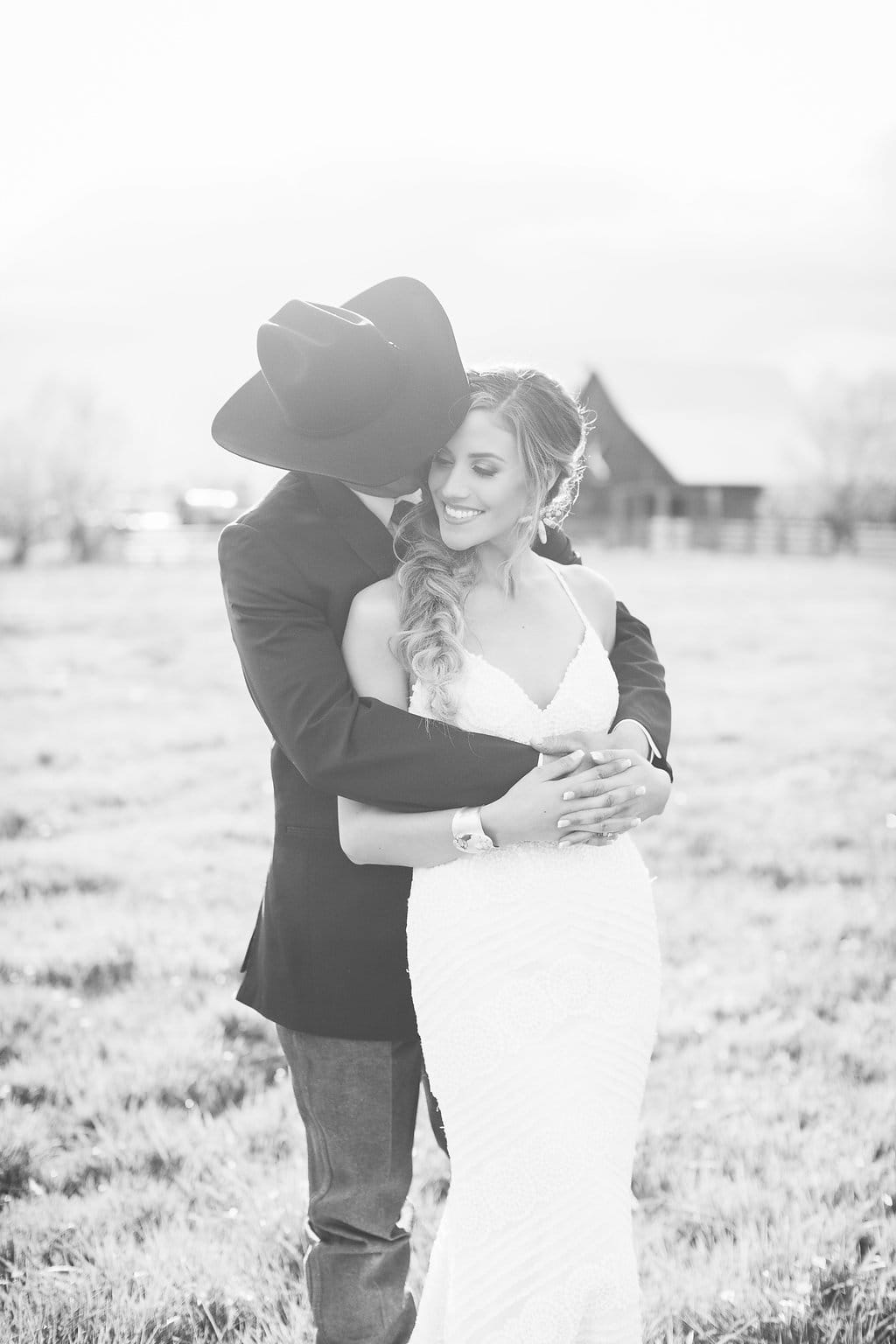 Chic and Romantic Ranch Wedding Featuring Bexley - Midgley Bride wearing Bexley by Sottero and Midgley