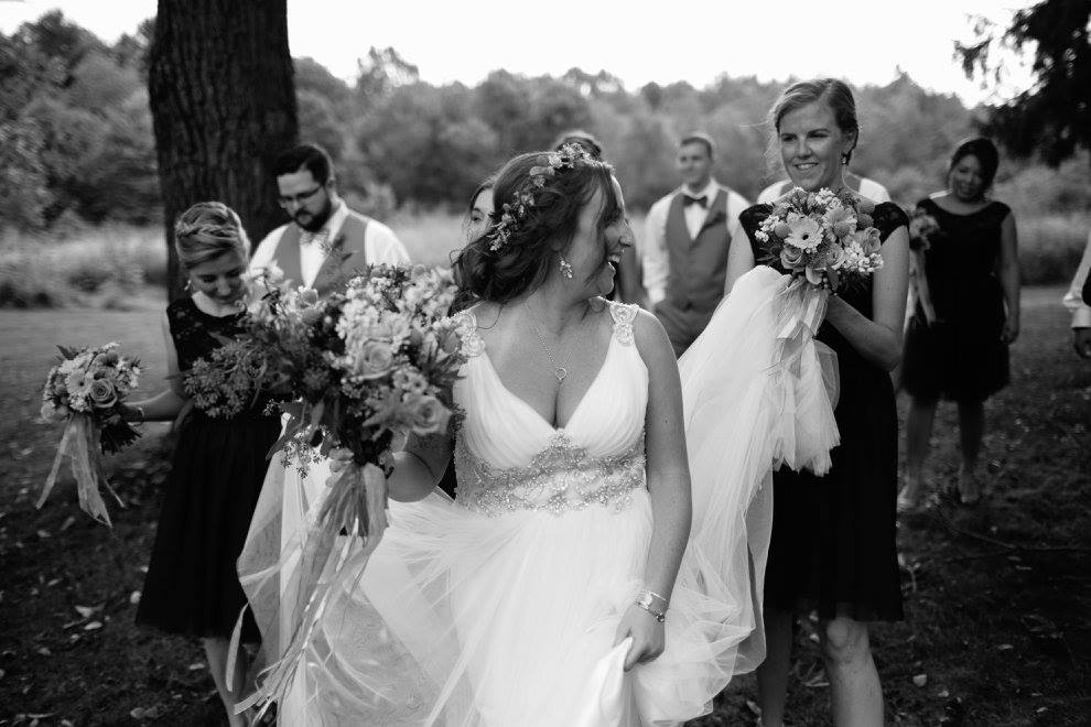 Princess Wedding Dress Phyllis in Woodland Nuptials - Maggie Bride wearing Phyllis by Maggie Sottero