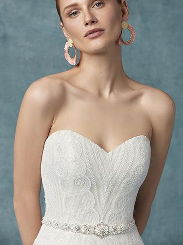 Unique wedding dresses with geometric lace | Geraldine lace wedding dress by Maggie Sottero