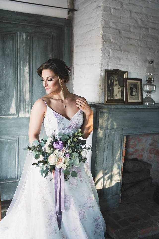 Blue Wedding Dress in Cajun and French-Inspired Bridal Session - Midgley Bride wearing Kira by Sottero and Midgley
