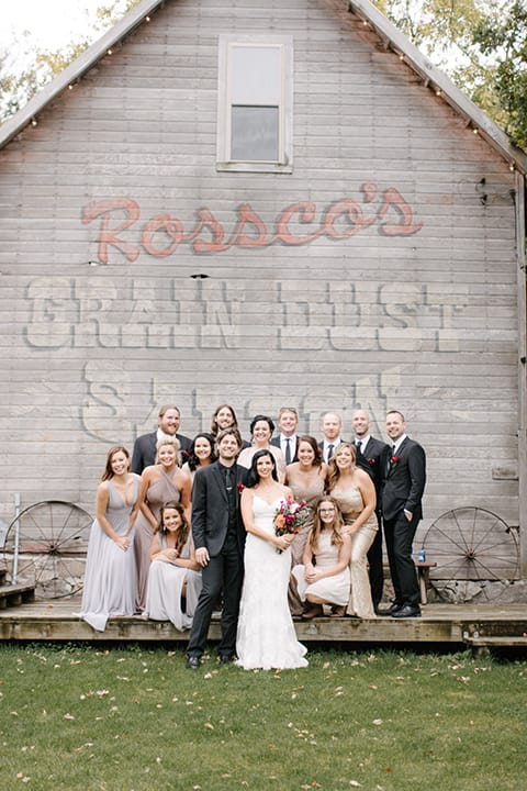 A Country-Rustic Wedding with Homespun Details