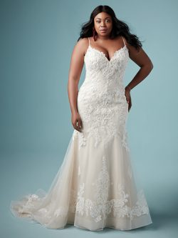 Glorietta Lynette plus size lace wedding dress by Maggie Sottero
