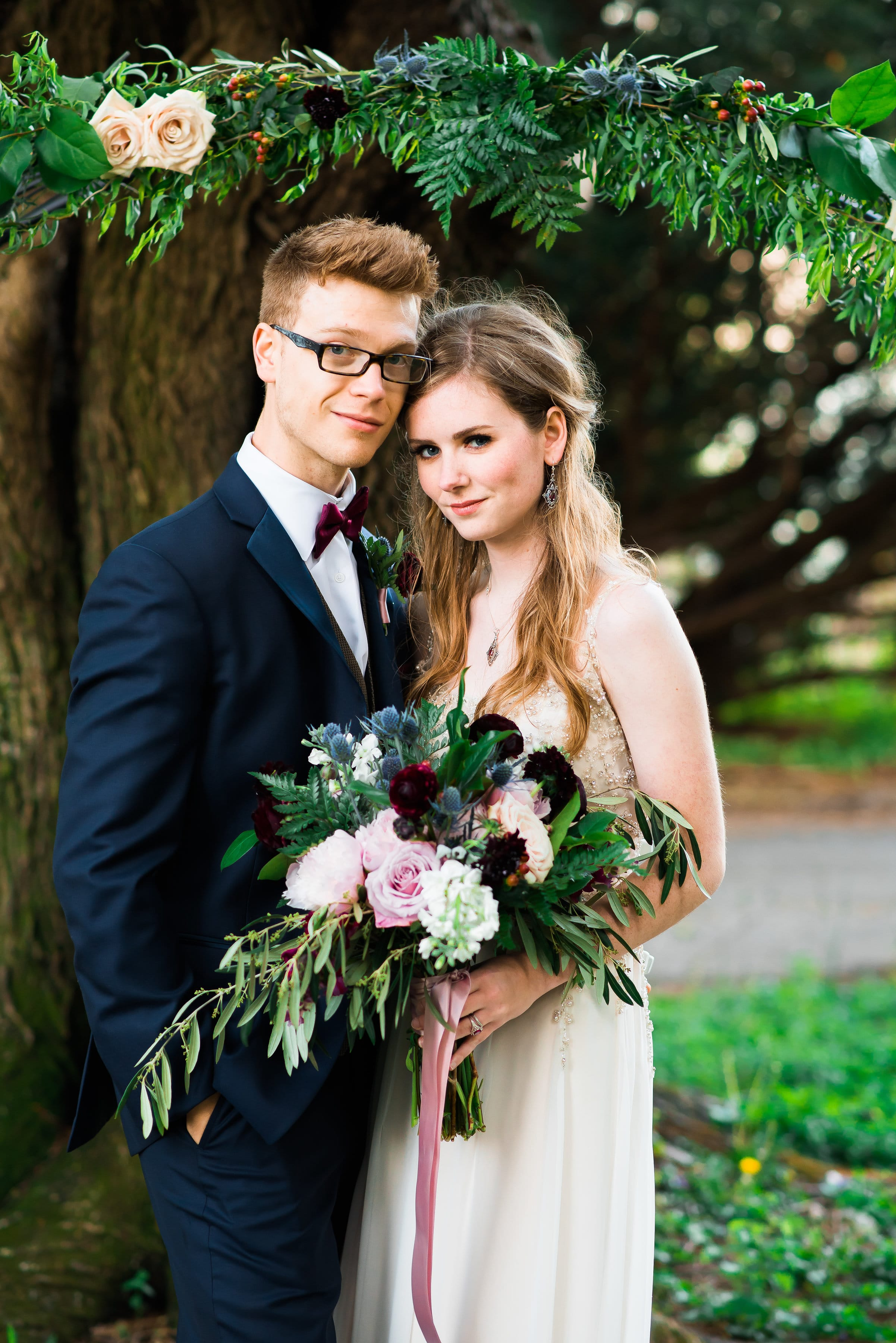 Romantic Styled Shoot with Jewel Tones and Vintage Wedding Dress