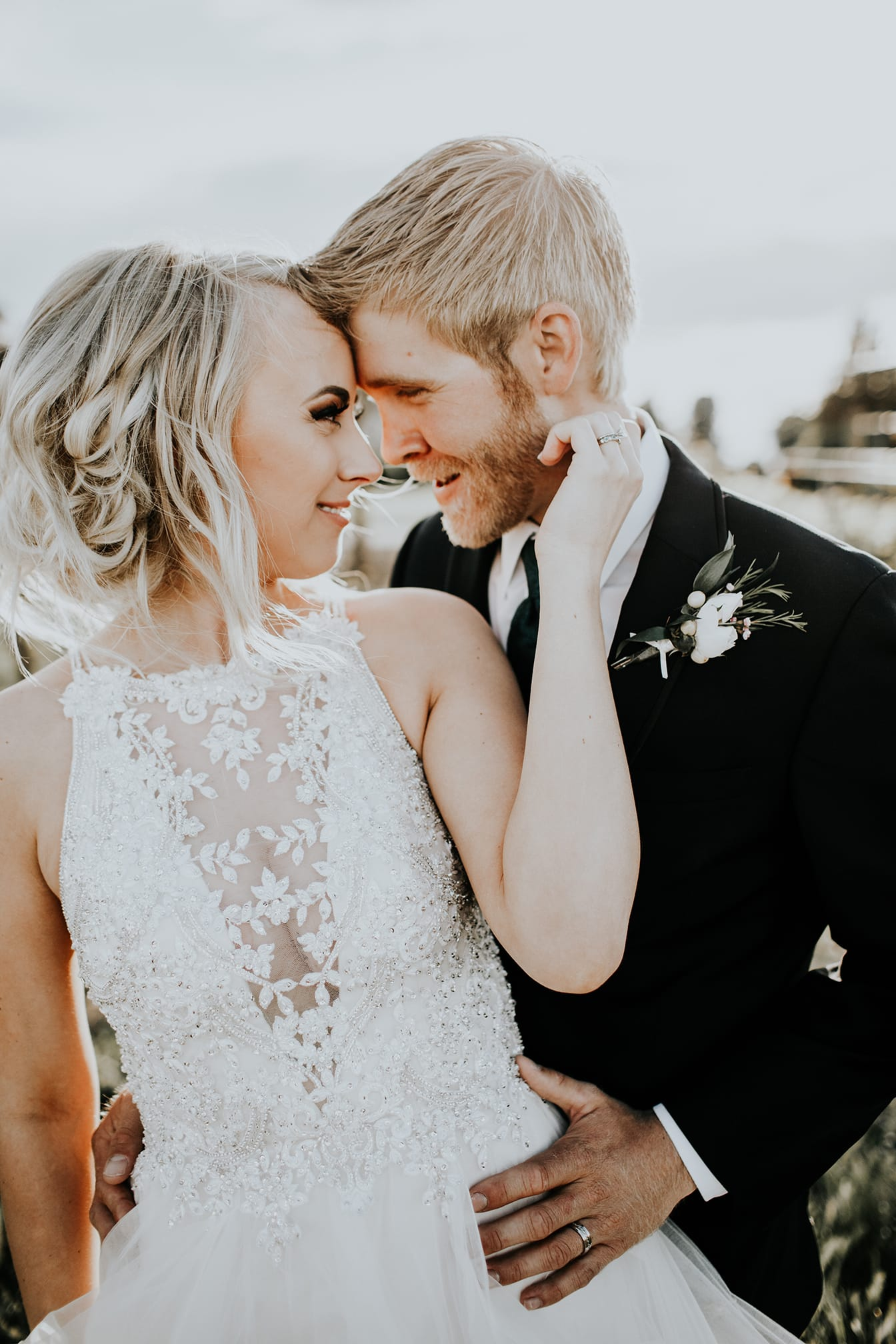 Birthday Proposal Leads to Romantic and Elegant Walla Walla Wedding. Maggie Bride Taylor wearing Lisette ball gown wedding dress by Maggie Sottero.