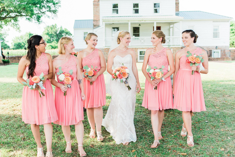 Spring Wedding with Bride and Bridesmaids