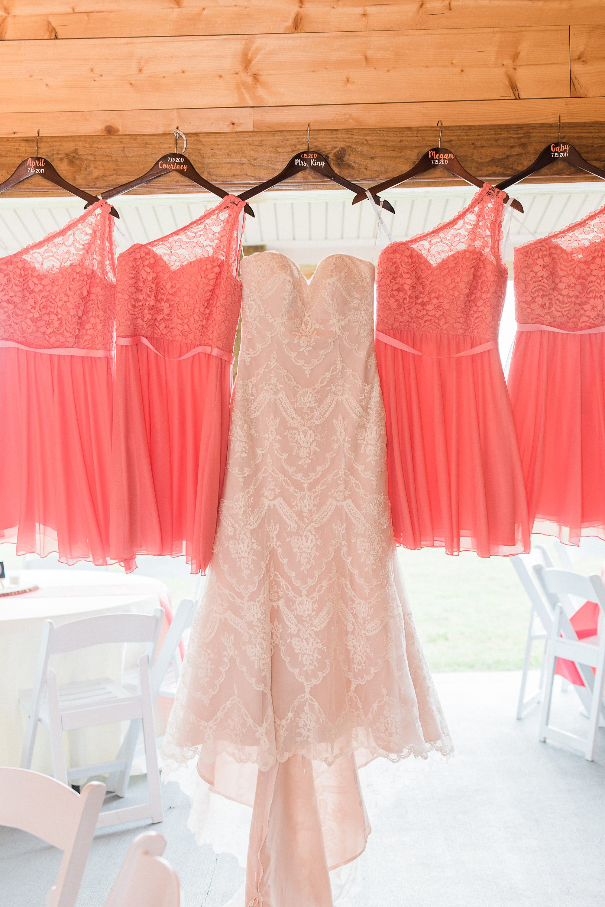 Blush Lace Wedding Dress in Classic + Colorful Nuptials. Kirstie blush wedding dress by Maggie Sottero.