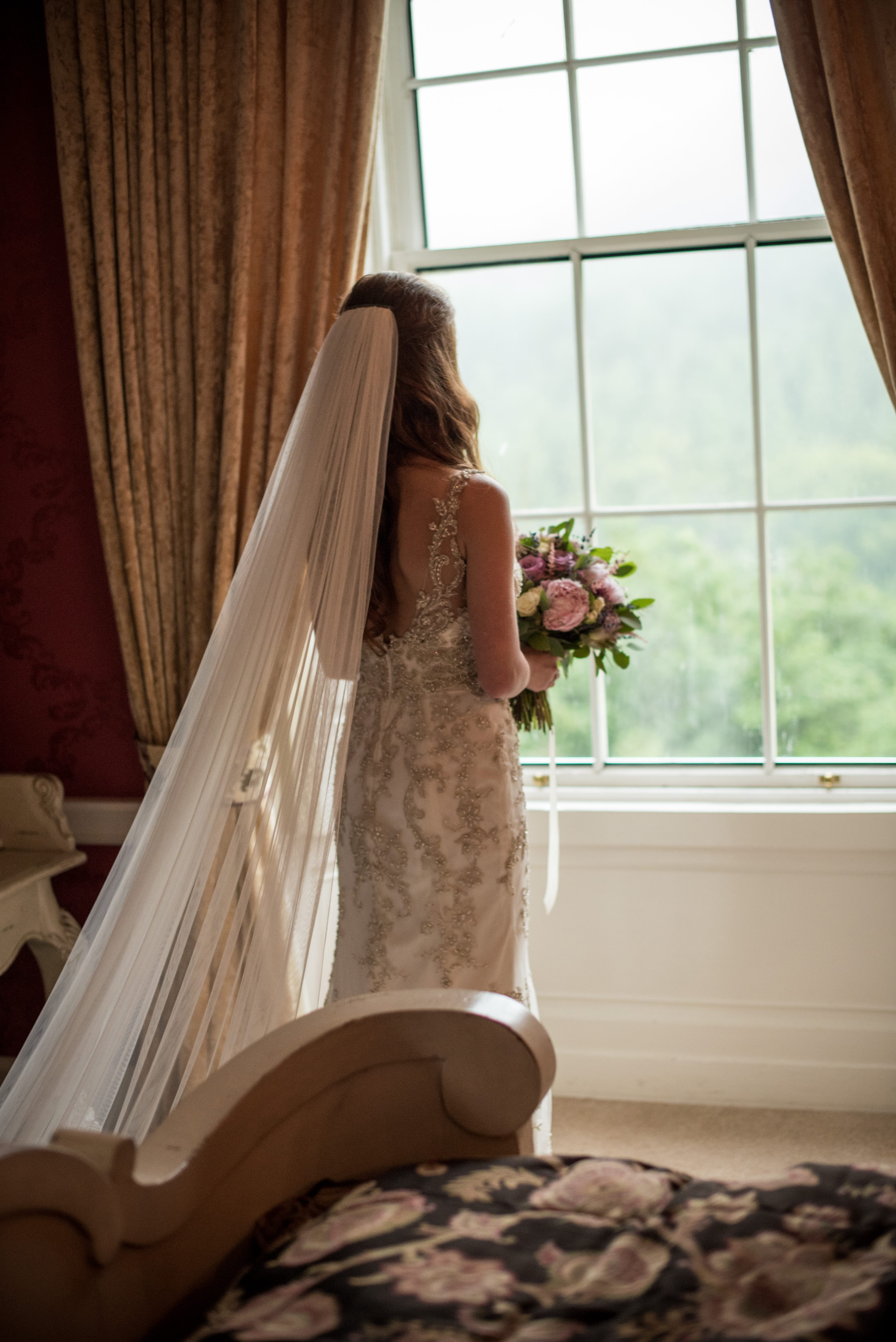 This Intimate Manor Wedding is the Ideal Balance of Soft Glamour, Rustic Whimsy, and Classic Elegance. Greer wedding dress by Maggie Sottero.