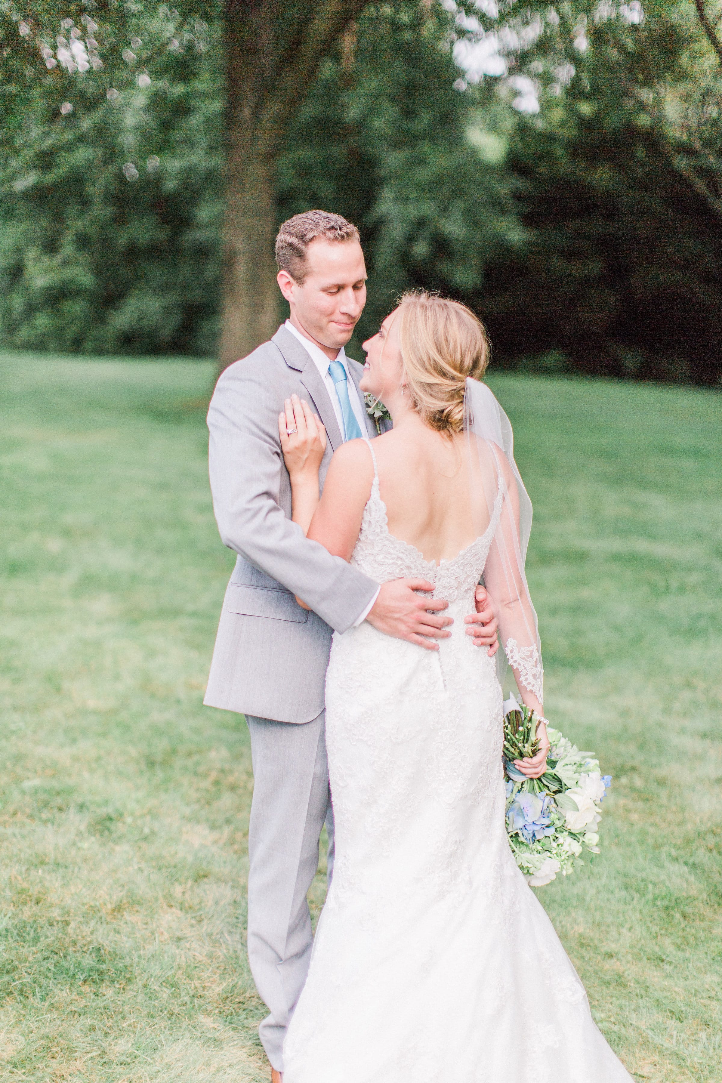 Real wedding Featuring Rebecca Ingram bride wearing Drew. This #rebeccabride had both parents walk her down the aisle!