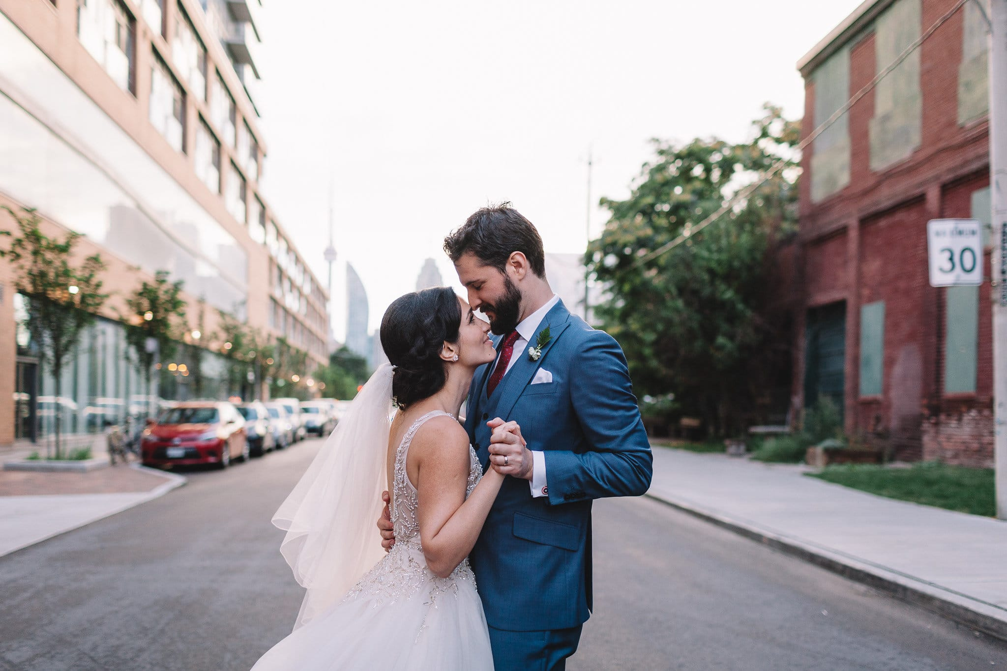 Toronto Wedding with Golden Princess Ballgown. Amélie wedding dress by Sottero and Midgley.