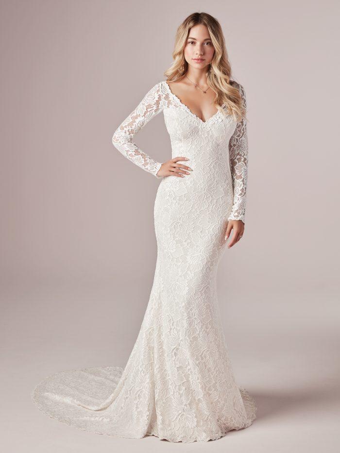 Long Sleeve Lace Wedding Dress Called Tina Dawn by Rebecca Ingram