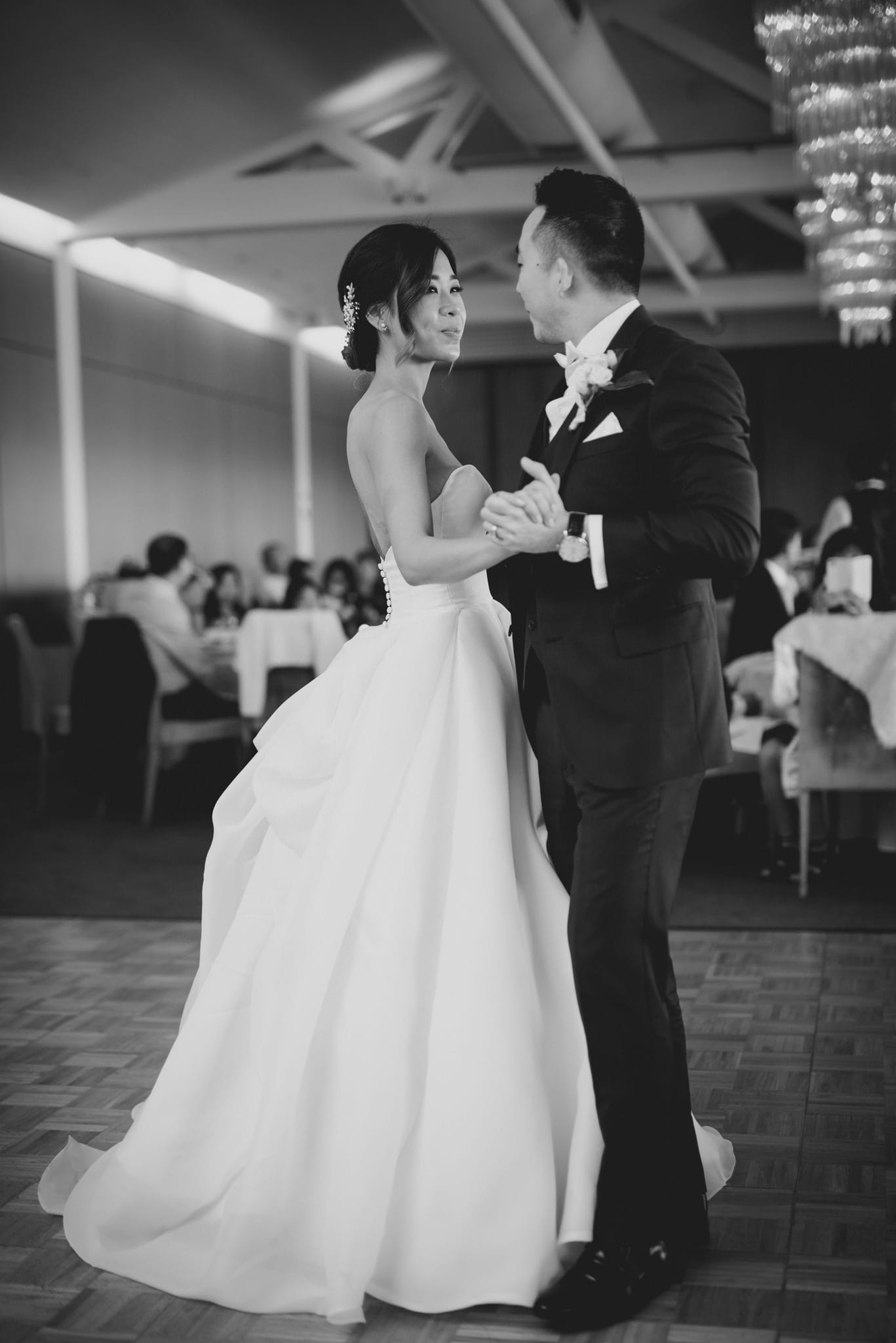 Romantic Ballgown Wedding Dress in Elegant Australia Nuptials. Maggie Bride is wearing Bianca Marie by Maggie Sottero.