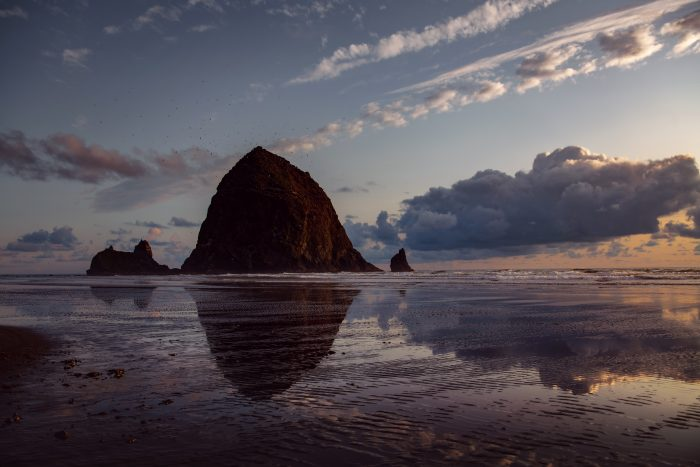 View of Haystack Rock on Famous Cannon Beach, Oregon