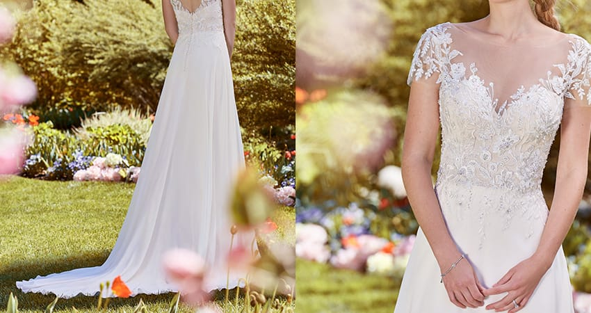 Wedding Dress Fabric Guide - Chiffon wedding dress from Rebecca Ingram