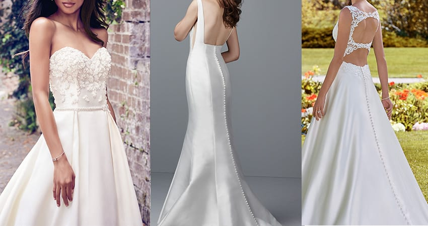 Wedding Dress Fabric Guide - Mikado wedding dresses from Maggie Sottero
