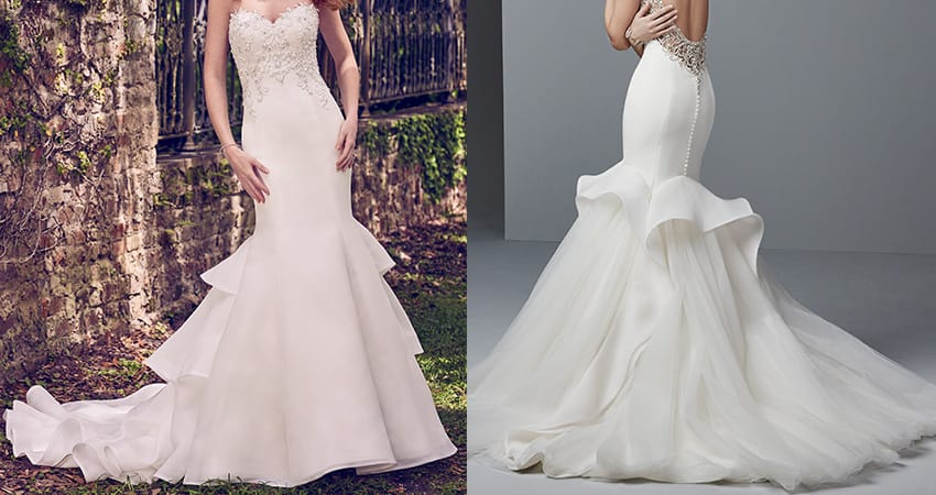 Wedding Dress Fabric Guide - Organza wedding dresses from Sottero and Midgley
