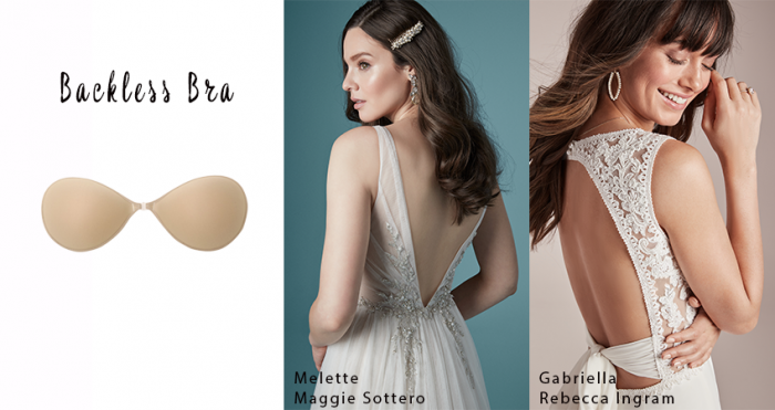 Backless Bra with Backless Wedding Dresses by Maggie Sottero