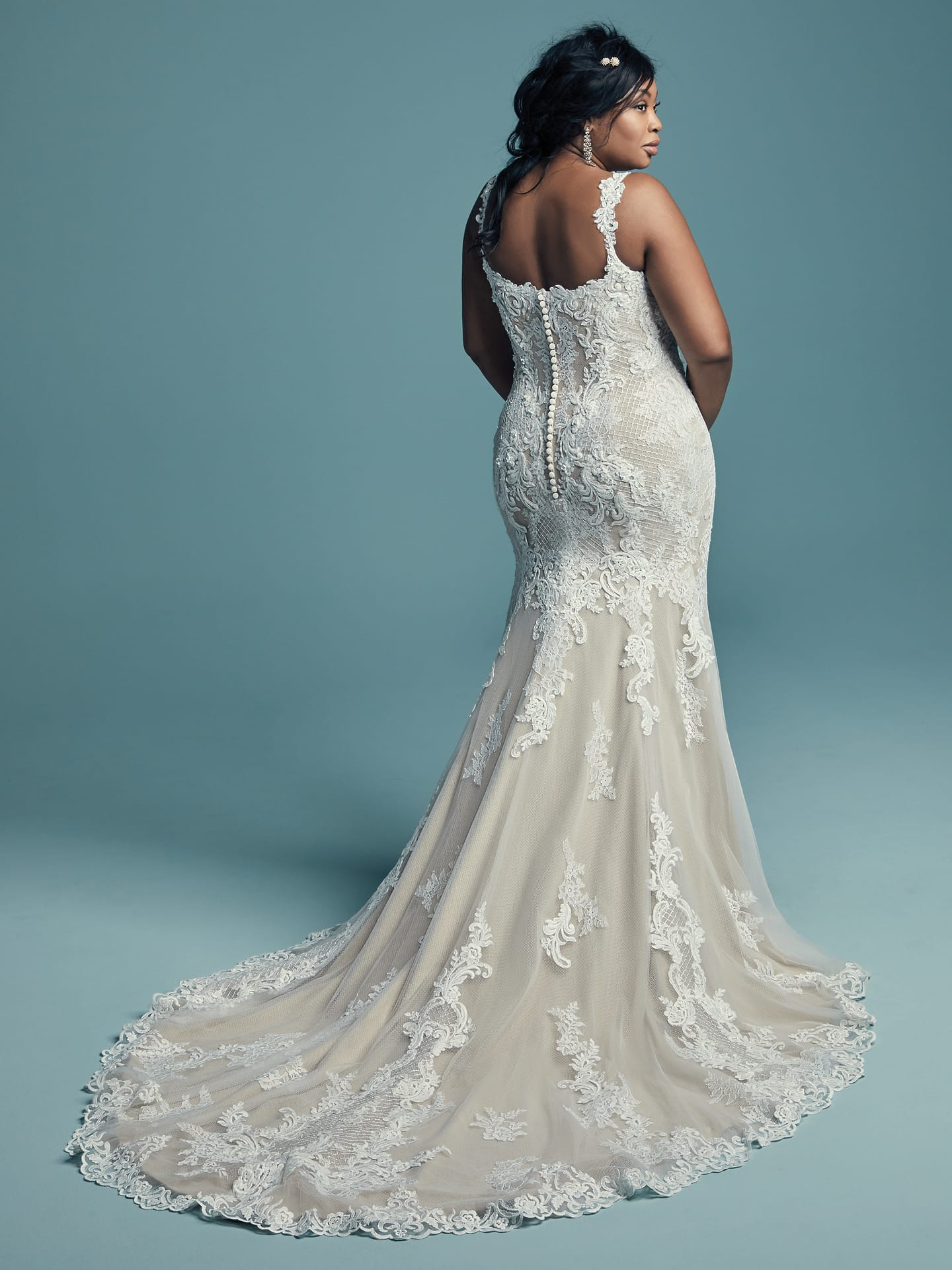 Flattering Wedding Dresses for Curvy Brides - Abbie Lynette by Maggie Sottero