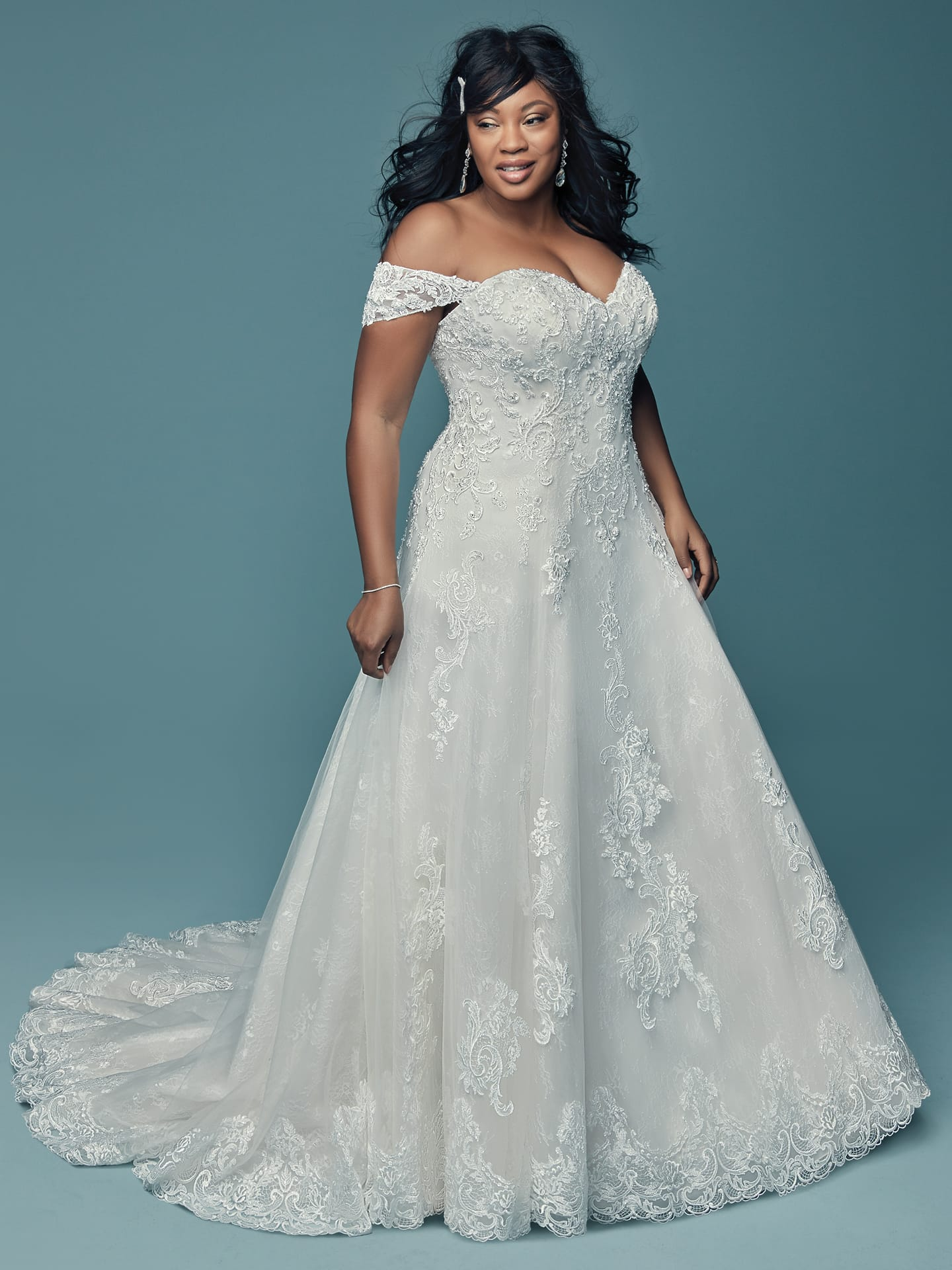 Flattering Wedding Dresses for Curvy Brides - Gail by Maggie Sottero