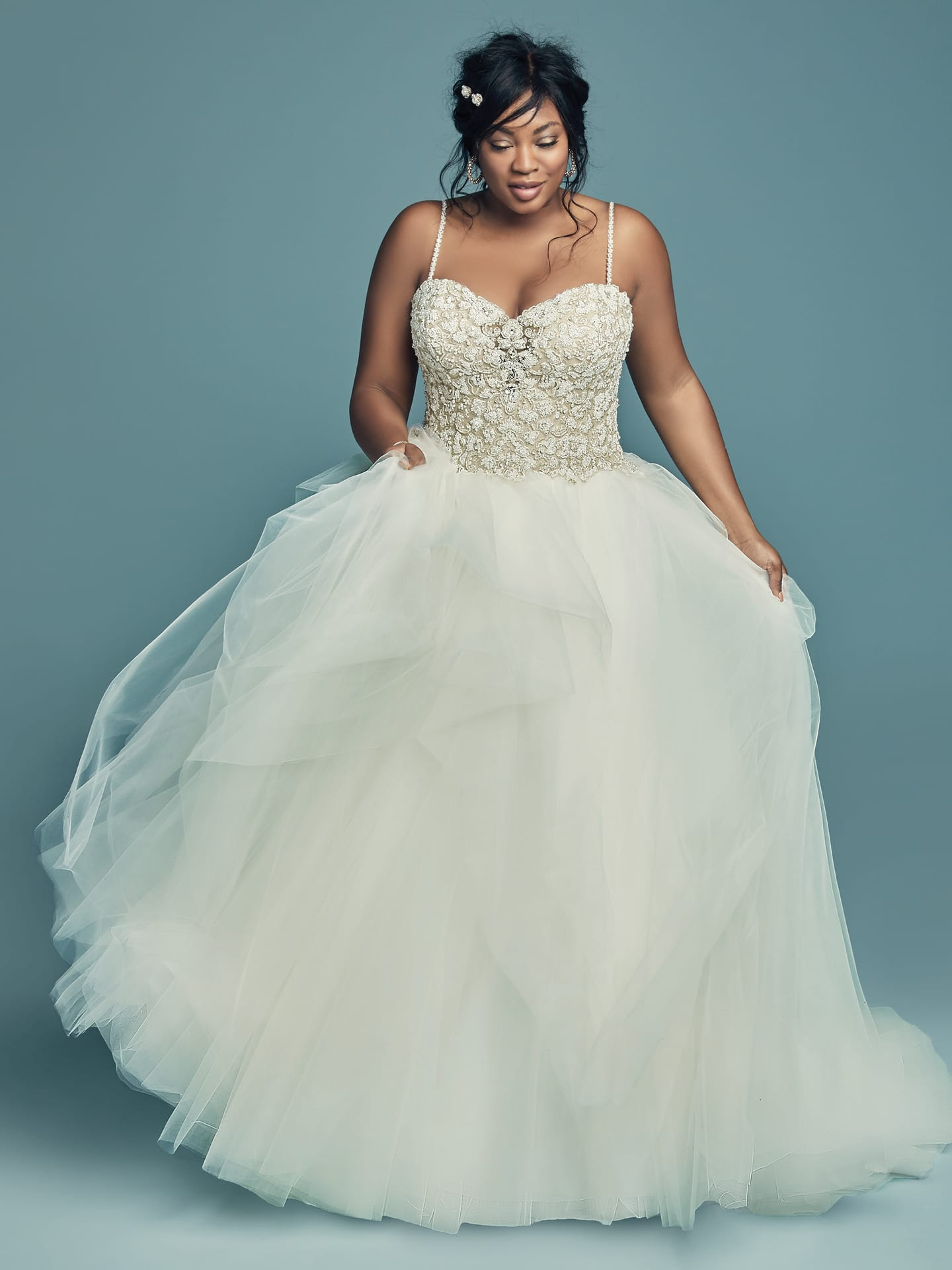 Flattering Wedding Dresses for Curvy Brides - Shauna Lynette by Maggie Sottero
