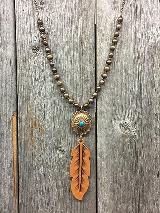 Leather jewelry by J Forks Designs. Alternative accessory for your perfect ranch wedding!