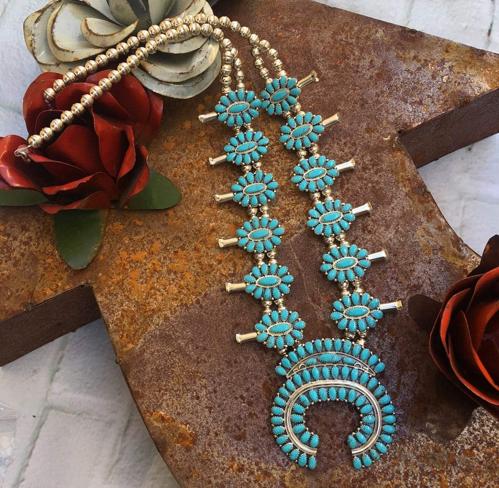 Squash blossom necklace by The Dirty Gringa - a alternative accessory for your perfect ranch wedding!