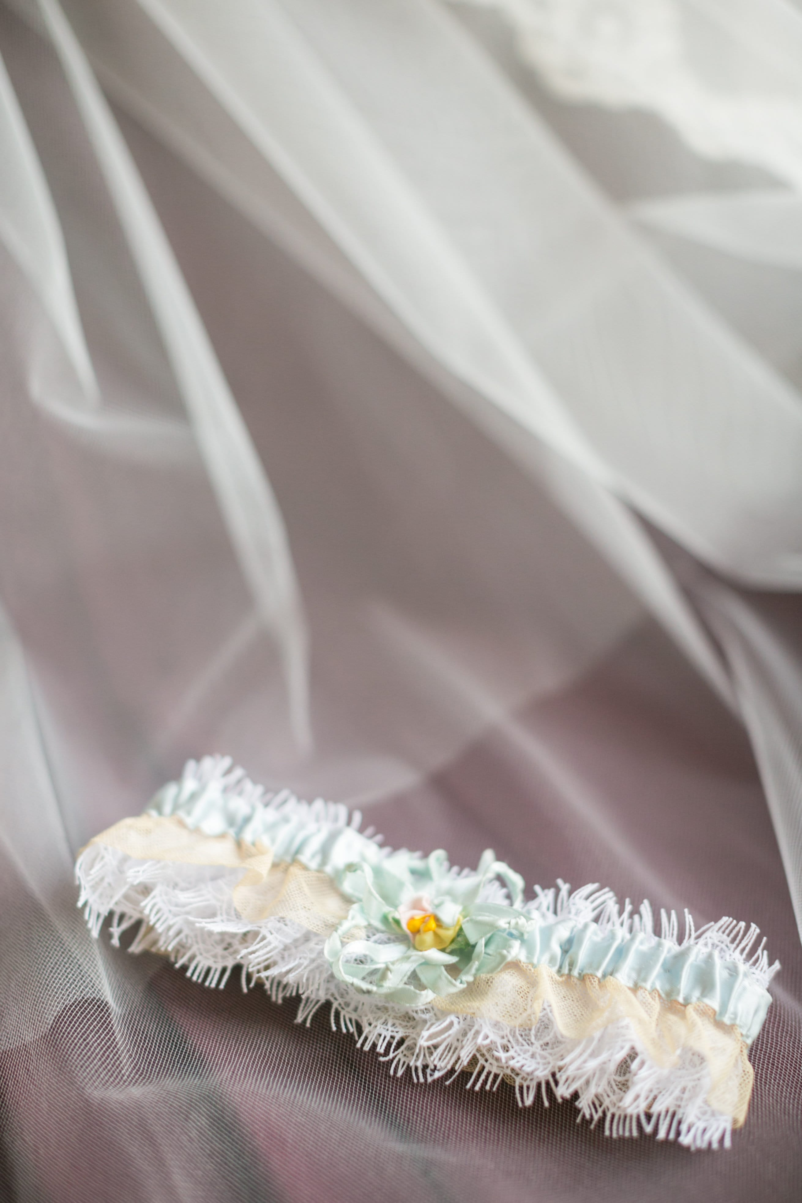 Online dating and college spirit-themed love story. Bride Lauren in Maggie Sottero gown Saffron.