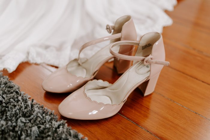 Light Pink Closed Toe Wedding Shoes