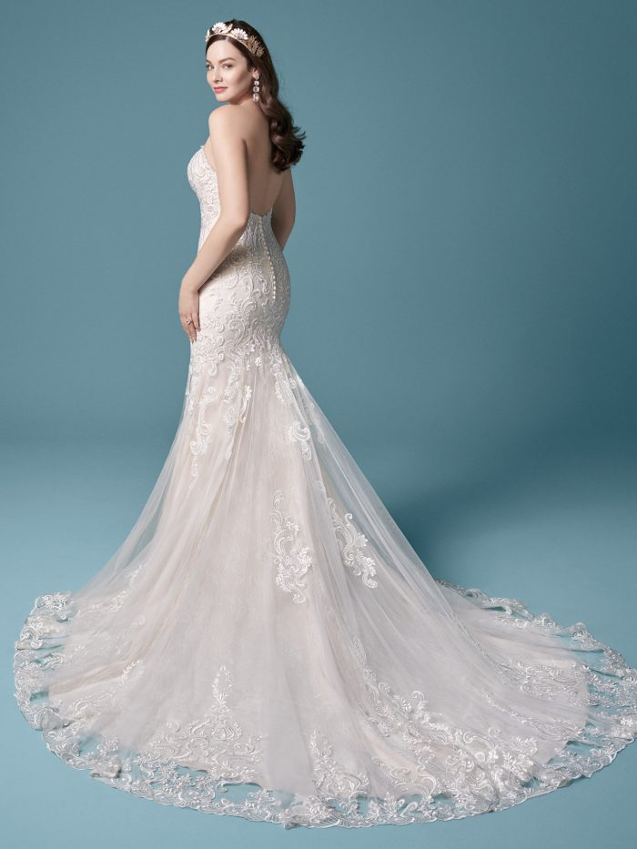 Strapless Fit and Flare Wedding Dress Called Jayla by Maggie Sottero