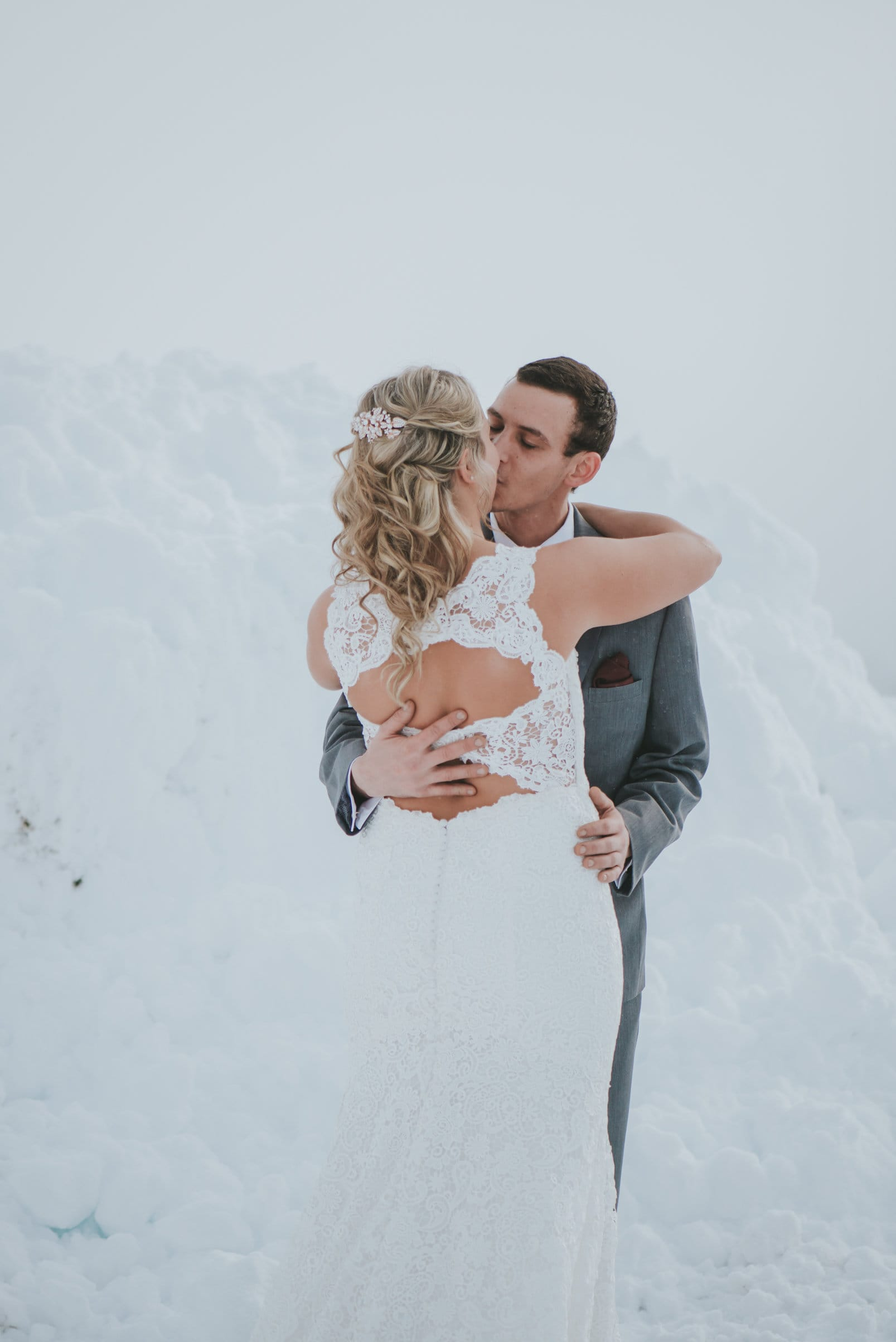 Winter Wedding Featuring Jewel-tones & Vintage-Inspired Wedding Gown- Rebecca Ingram Bride wore Hope