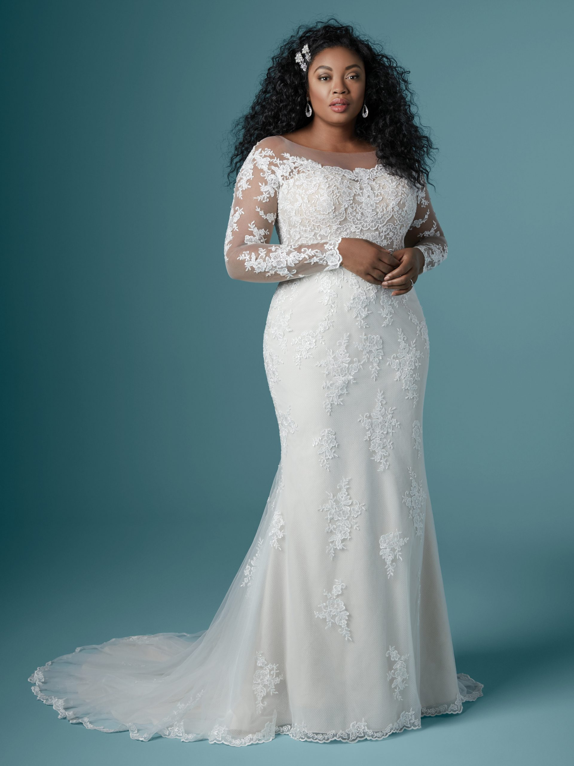 Off the Shoulder Lace Wedding Gown Called Chevelle Lynette by Maggie Sottero