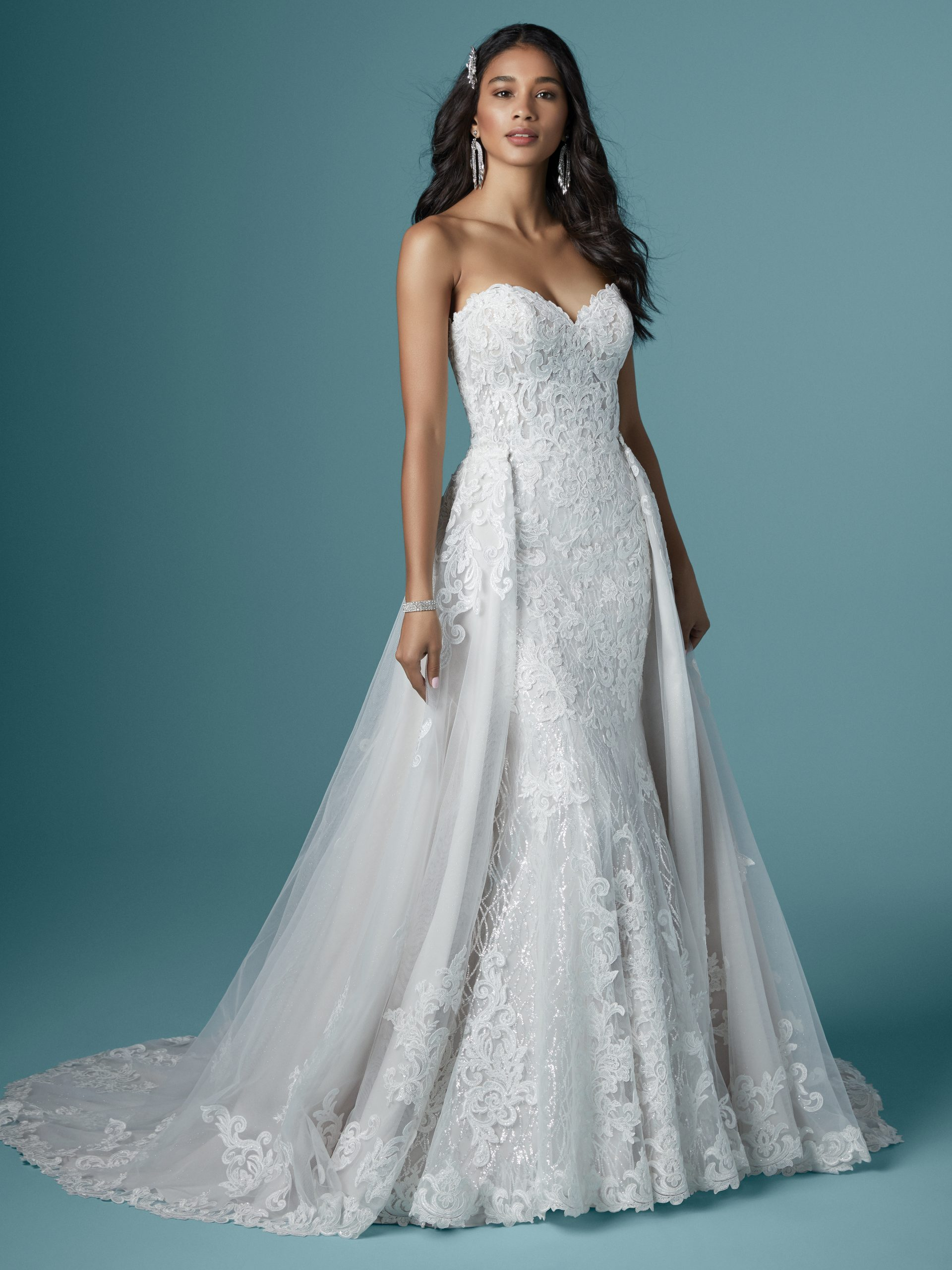 Strapless Lace Mermaid Wedding Dress Called Kaysen by Maggie Sottero