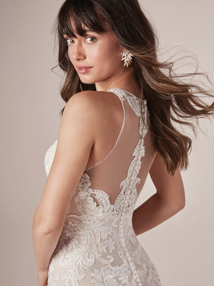 Lace Halter Neck Bridal Gown Called Brandy by Rebecca Ingram