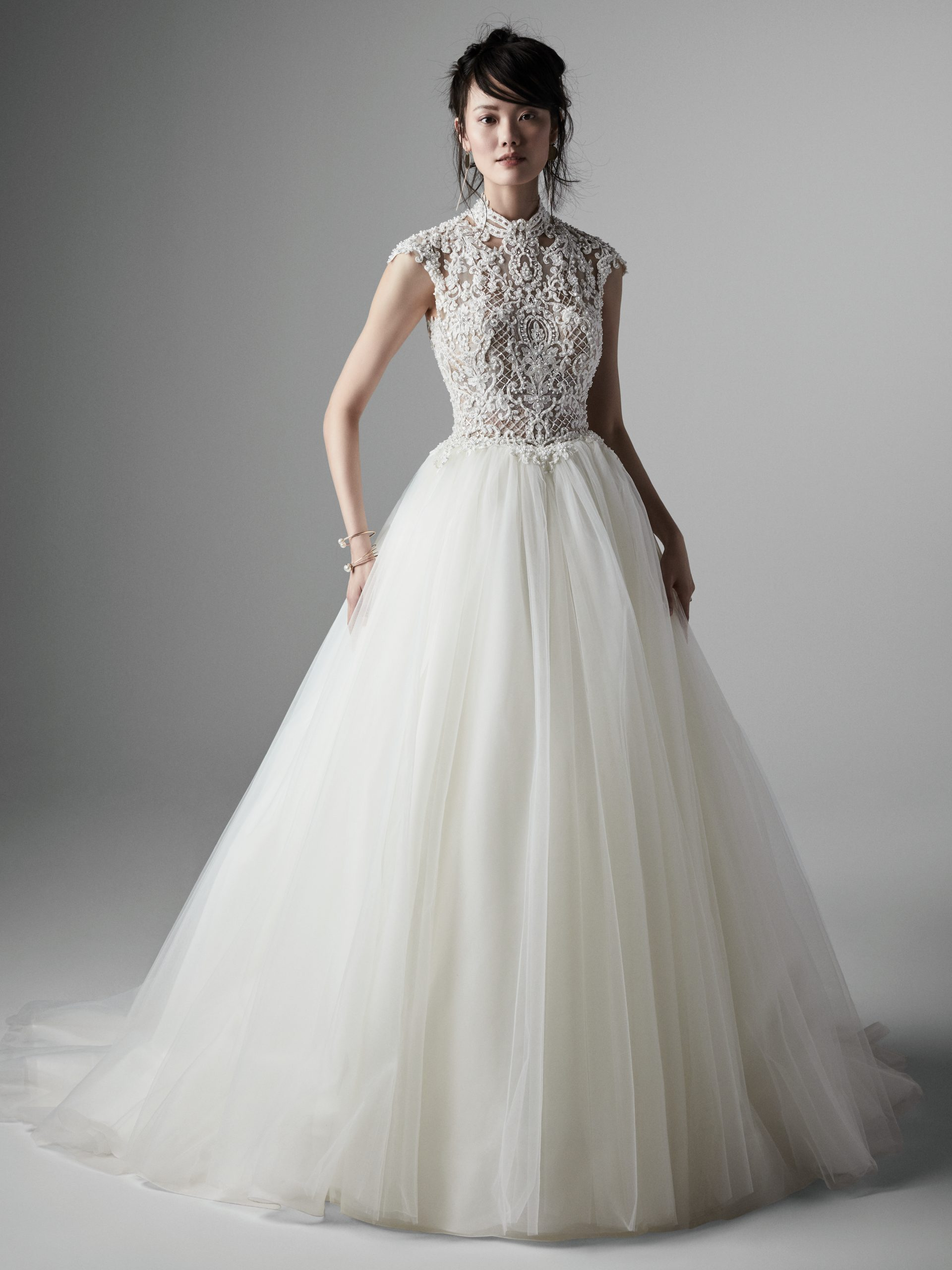 Ball Gown Wedding Dress with Keyhole Back Called Zinnia Lane by Sottero and Midgley