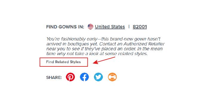 No Gowns Found Screenshot