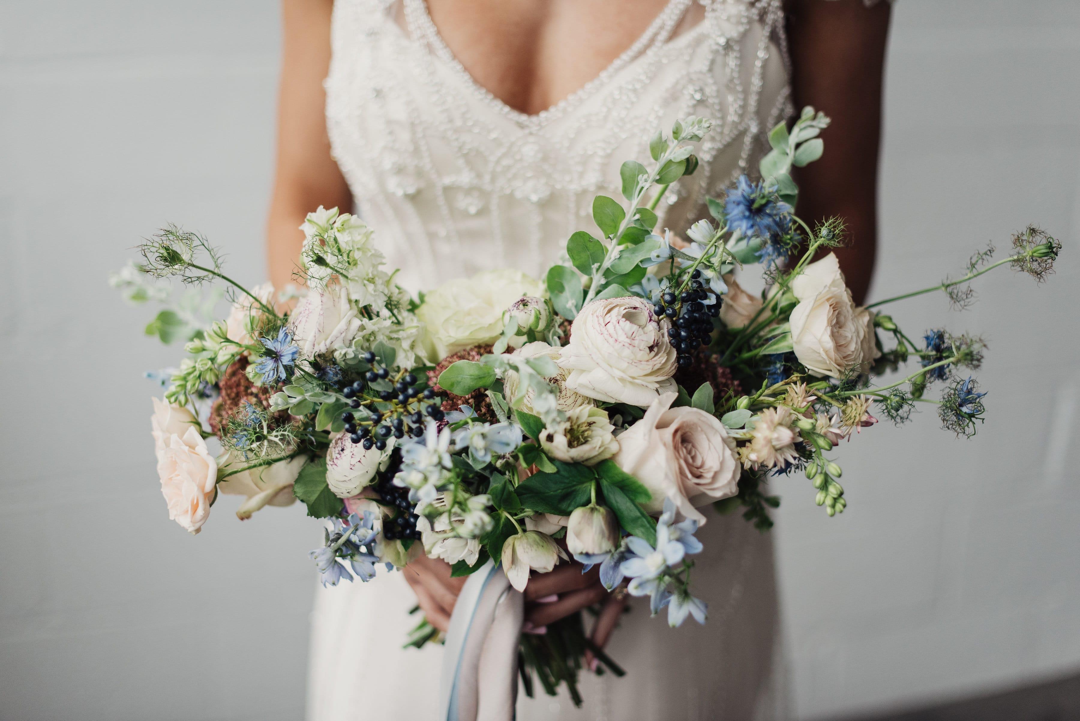 aa1abc711ba Something Blue Styled Shoot with 3 Vintage-inspired Wedding Dresses ...