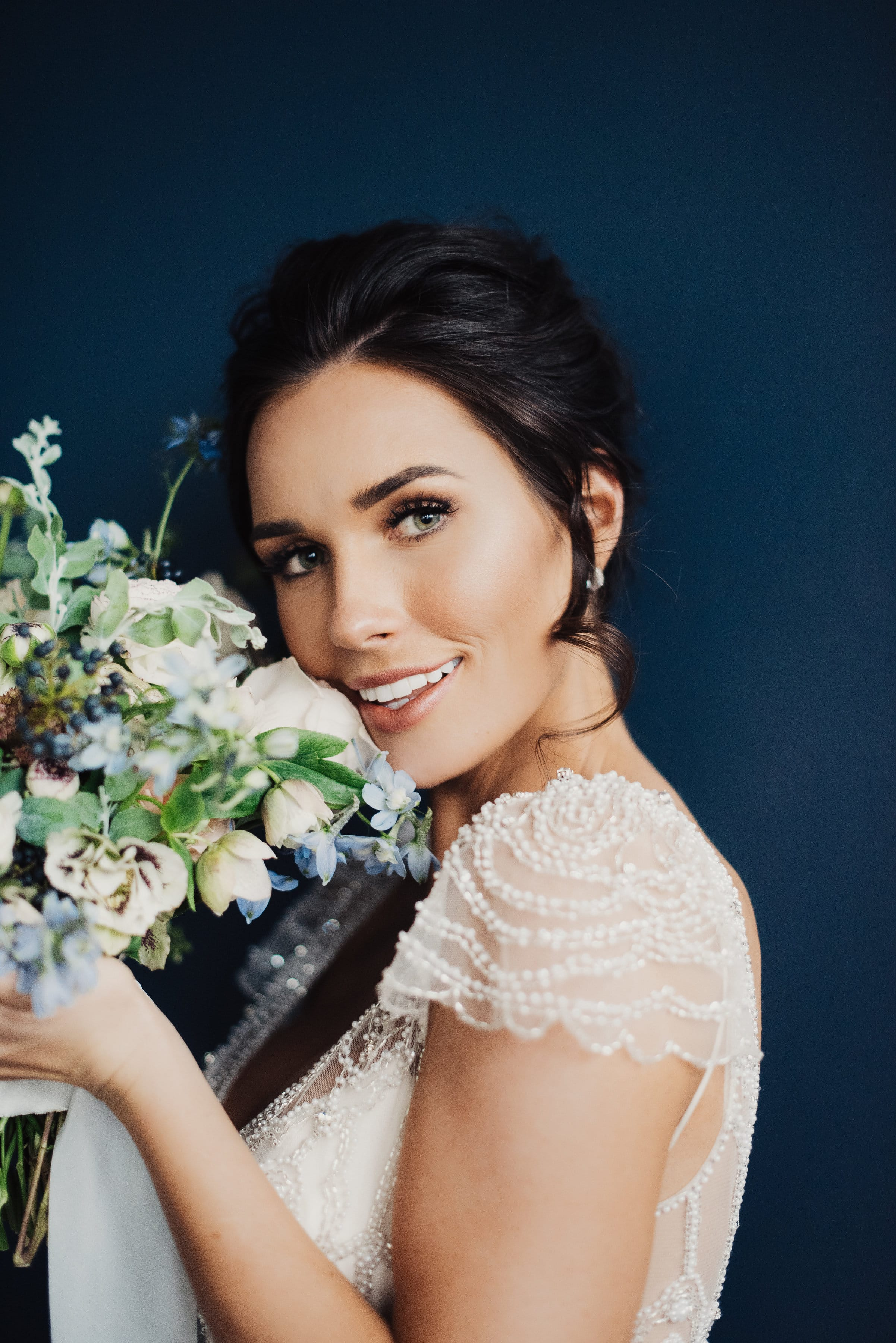 Something Blue Shoot with 3 Vintage-inspired Wedding Dresses - Ettia by Maggie Sottero.