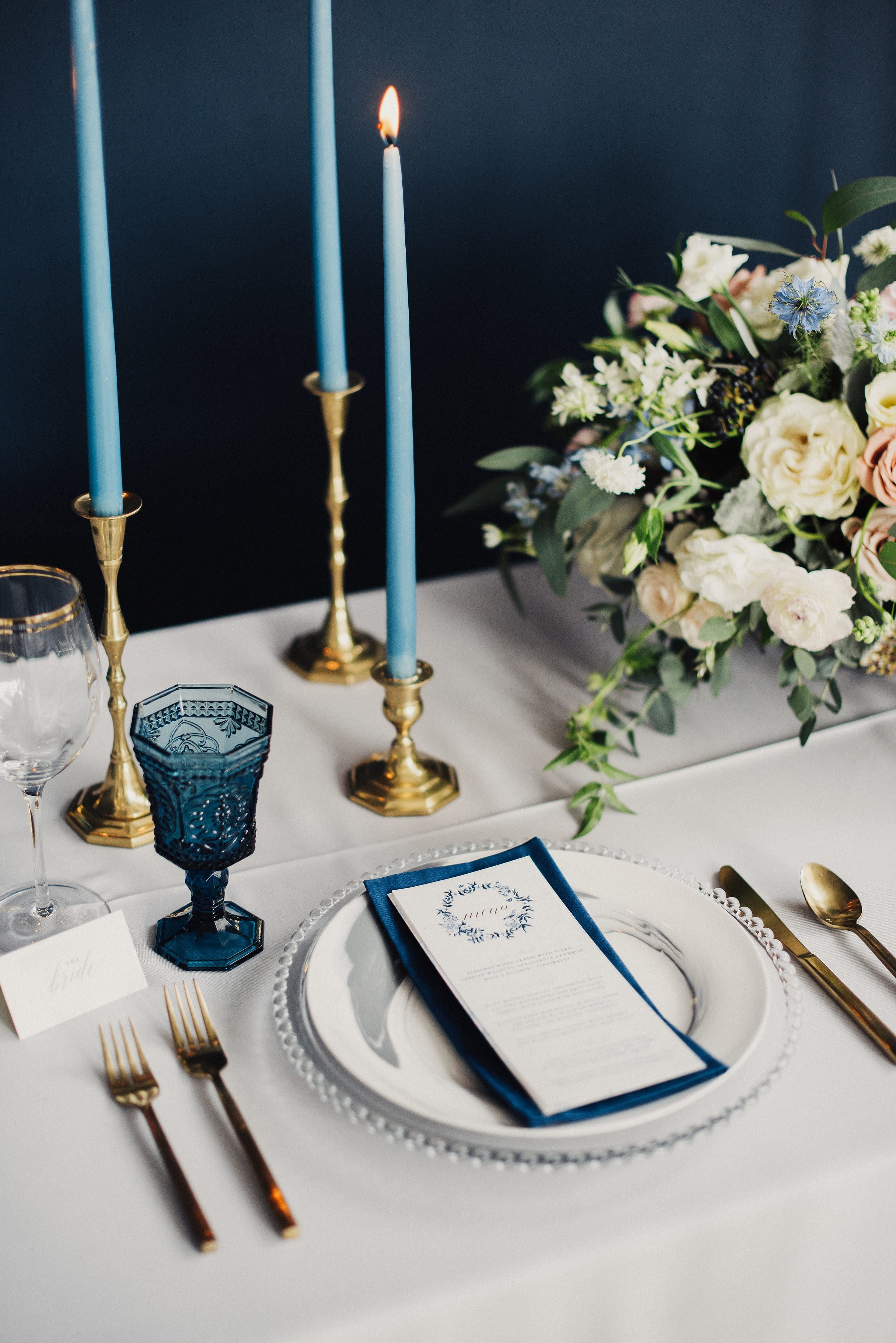 Something Blue Styled Shoot with 3 Vintage-inspired Wedding Dresses.