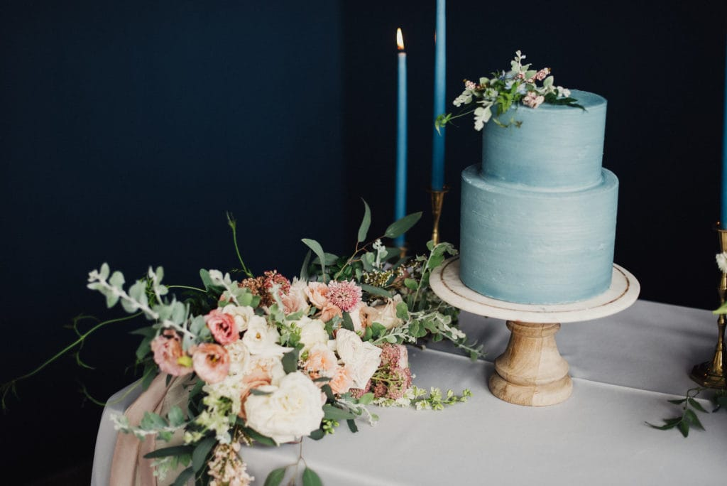 Classic Blue Wedding Cake and Wedding Details Inspired by Pantone's Color of the Year