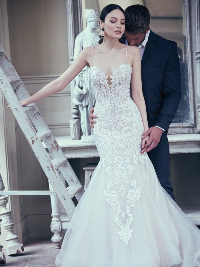 Alistaire fit-and-flare lace wedding gown