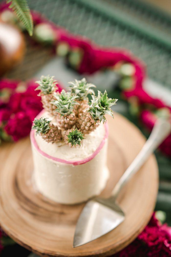 Pineapple Pink Wedding Cake