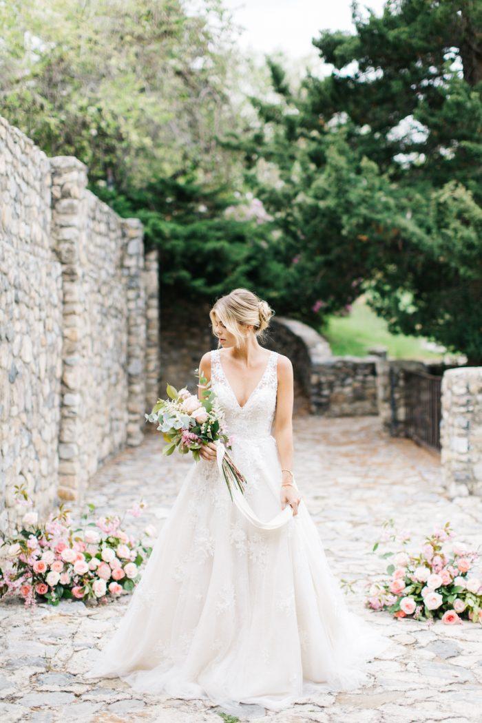 Real Bride Wearing Meryl Lynette by Maggie Sottero